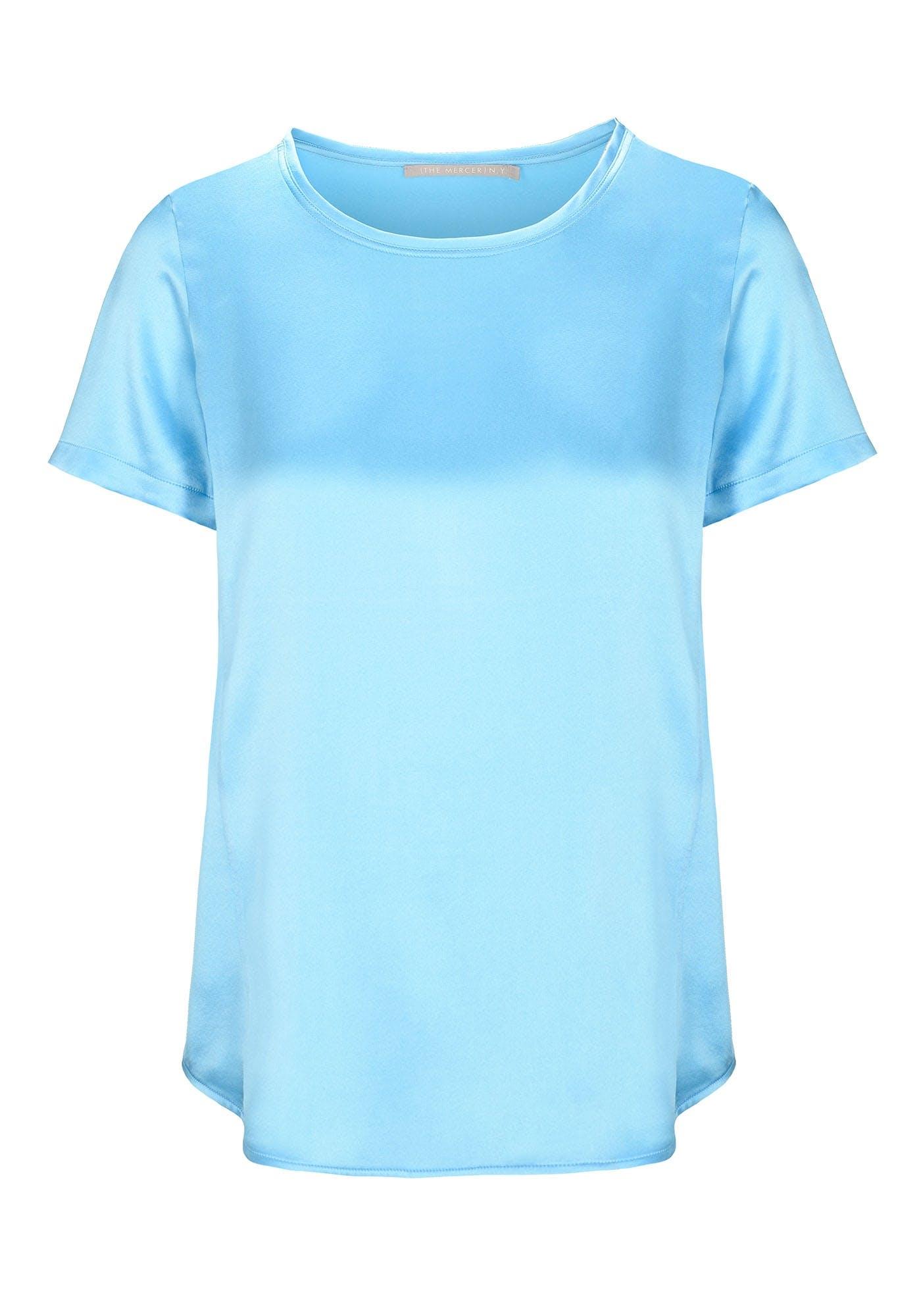 Satin Silk Shirt - Pool