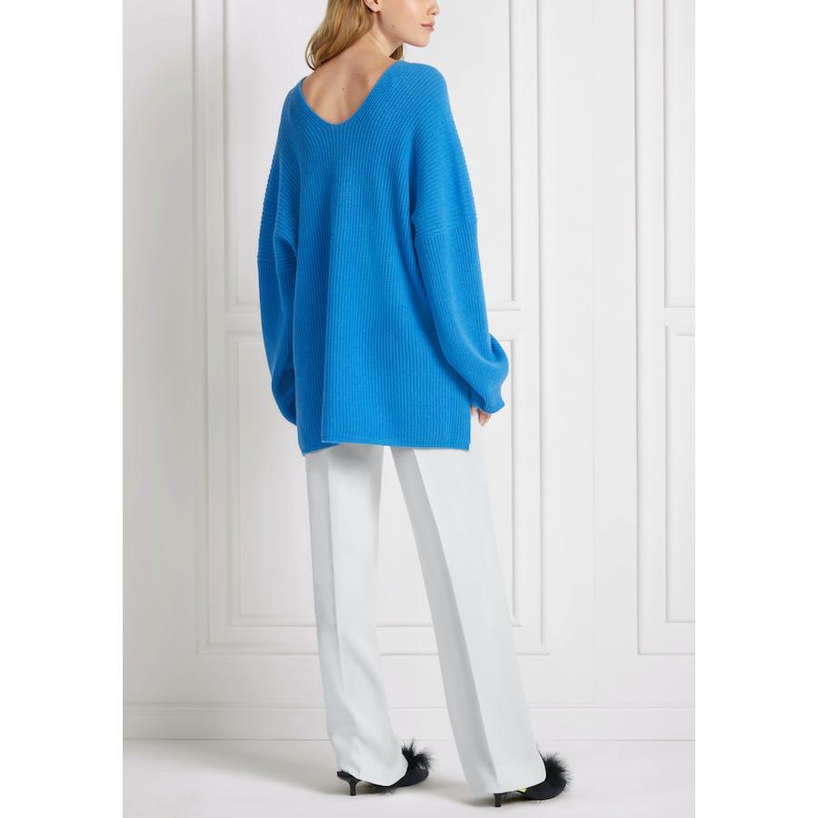 V-Pullover im Oversize-Style