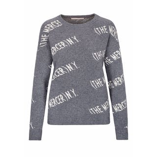 Kaschmir-Pullover mit Label-Wording