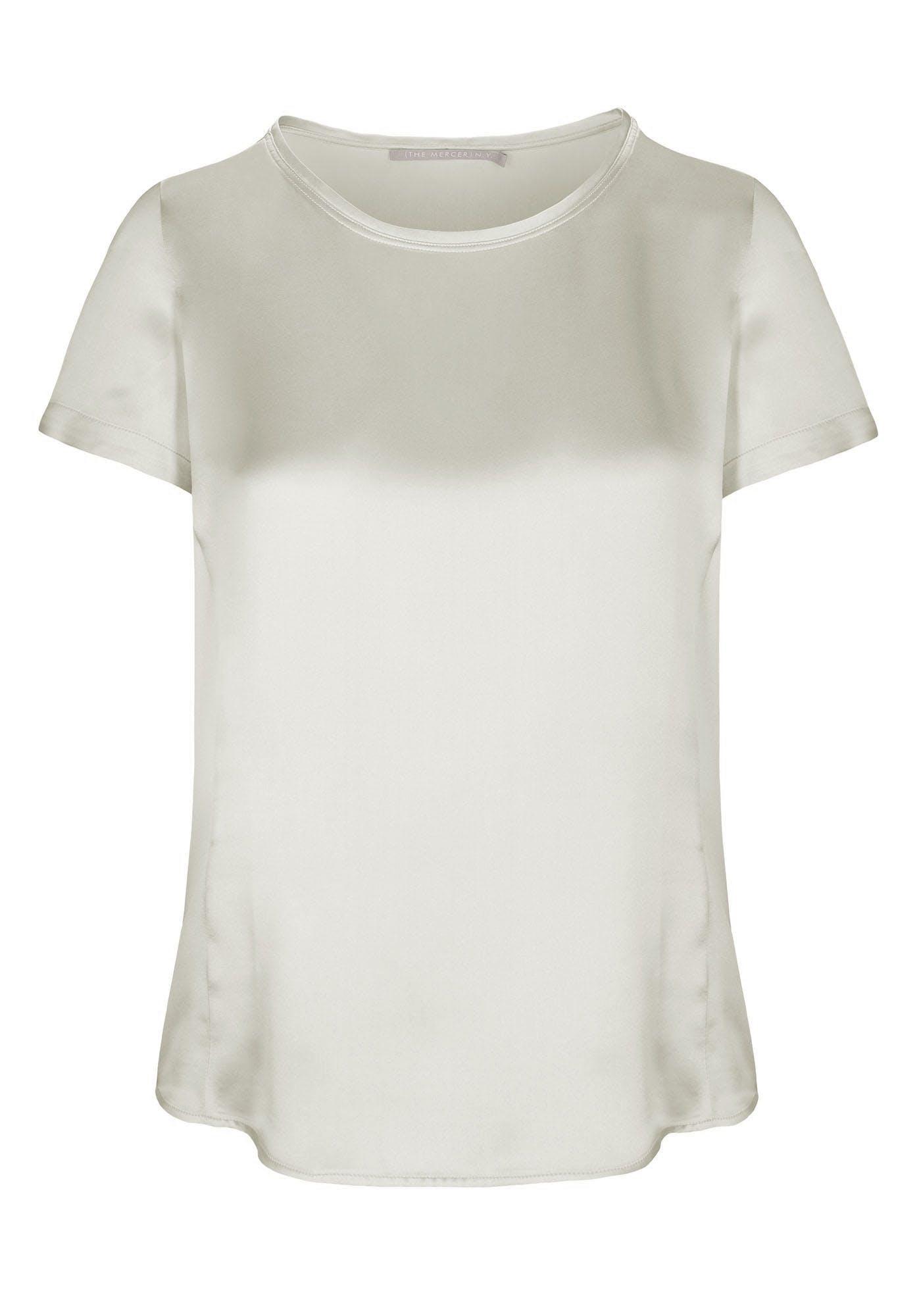 Satin Silk Shirt - Sand