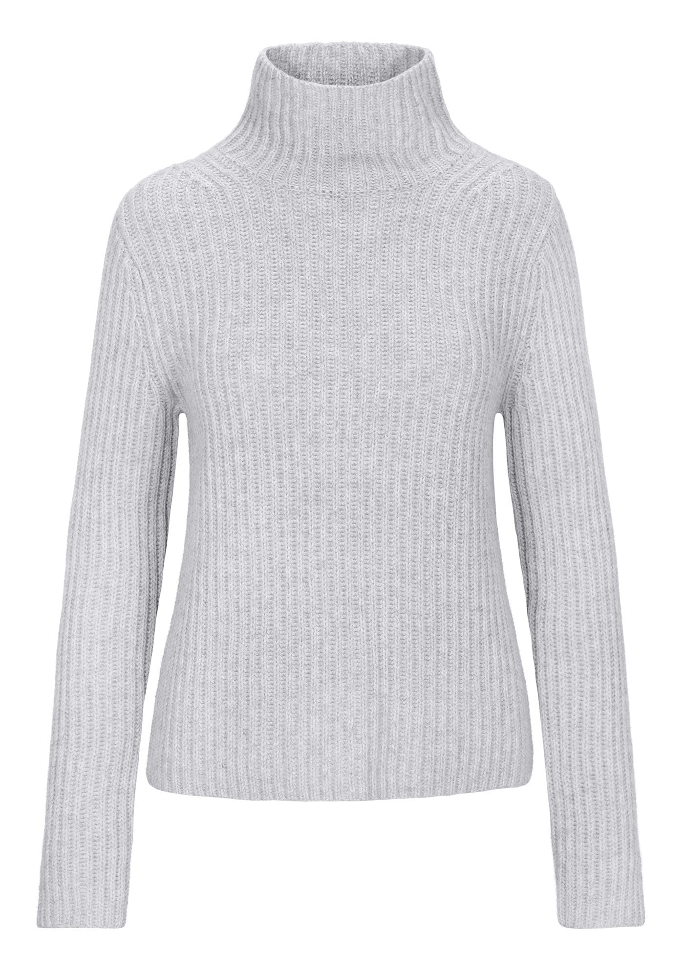 Stehkragen-Pullover